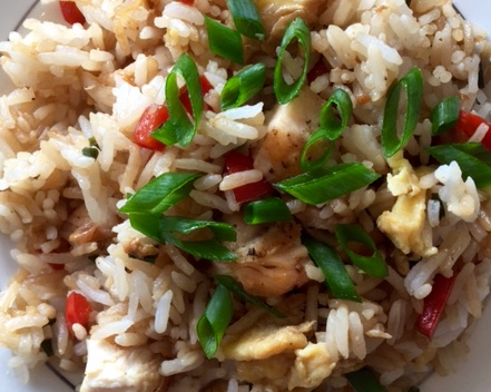 arroz chaufa (Peruvian friend rice)