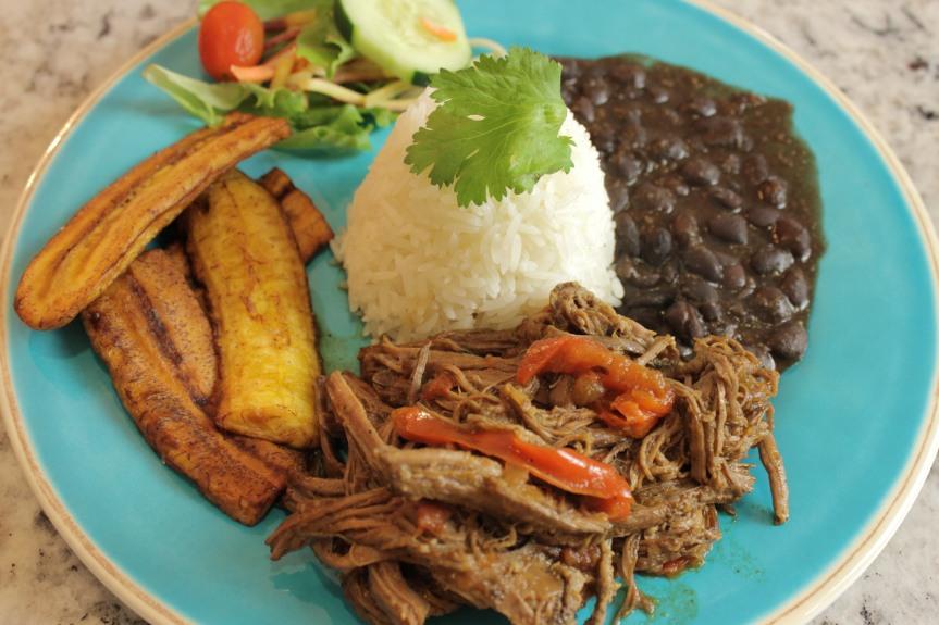 Venezuelan Pabellón Criollo-Shredded Beef